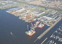 Aerial view Damen Shiprepair Amsterdam