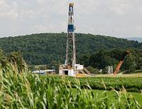 Drilling rig in the Marcellus area