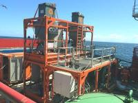 Core Grouting Services equipment on vessel