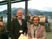 Erik Holtar; head of research and development in Det Norske and Anne Lycke; CEO of Norsar