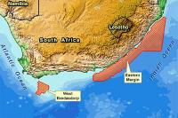 Location of the West Bredasdorp and Eastern Margin survey areas offshore South Africa