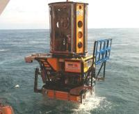 Lanch of Bibby Offshore owned ATOM work class ROV
