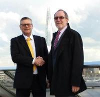 Ocean Signal Managing Director Alan Wrigley (left) and Michael Wilkerson