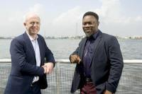 Mark Gillespie; PDi managing director and Taofik Adegbite; MPL CEO