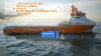 The Wärtsilä LNGPac system installed in a platform supply vessel