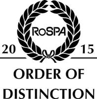 RoSPA Order of Distinction 2015