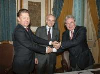 Alexey Miller, Marc Benayoun and Theodoros Kitsakos