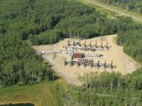 Peace River Shell Thermal Complex Well Pad Directly South of Strata Oil Cadotte Project