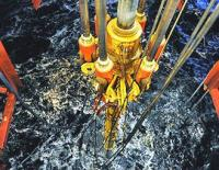 Drill rig Transocean Barents in the Barents Sea.