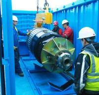 PRT loading into Suretank container