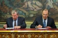 Rosneft signs agreement of cooperation with Ministry of Foreign Affairs