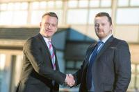 (from left to right) Managing director Paul Paterson welcomes new director Ian Melville