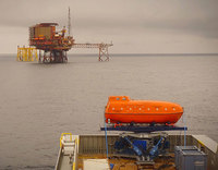 Ampelmann Atlas motion-compensated lifeboat exchange system