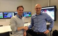 Thomas A. Sjøberg, CEO of SPS (left) and eDrilling's COO, Sven Inge Ødegaard