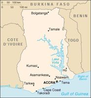 Ghana Map Gulf of Guinea