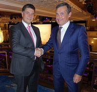 Ronald Spithout, President of Inmarsat Maritime and Mikael Makinen, President Marine of Rolls-Royce