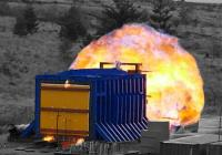 InterDam - fire and blast testing at 0.25 bar
