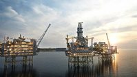 Rendering of the Johan Sverdrup field in the North Sea (illustration: Statoil/TRY)