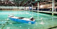 Yara Birkeland model testing at SINTEF Ocean - photo: Kongsberg Maritime