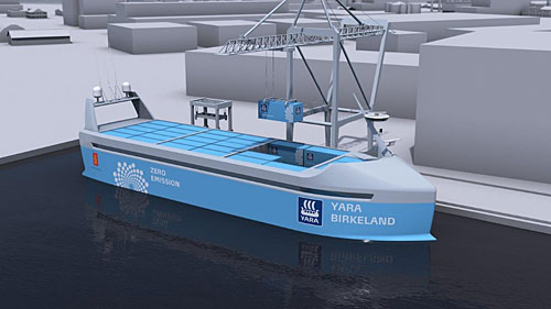 Norway to build first self-sailing cargo ship