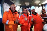 Maersk Oil and Drilling teams celebrate spudding the first Culzean