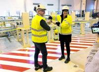 Sandvik new, ultrasonic testing facility Andersson, Einarsson