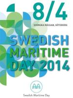 Swedish Maritime Day – 8 April 2014